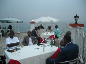 Last year celebration. @Cap Kivu Hotel, Goma