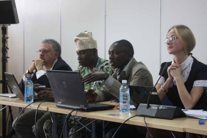 Rudi International Executive Director, Arsène Tungali at an international conference on child protection and safe use of the Information Technology in Africa.