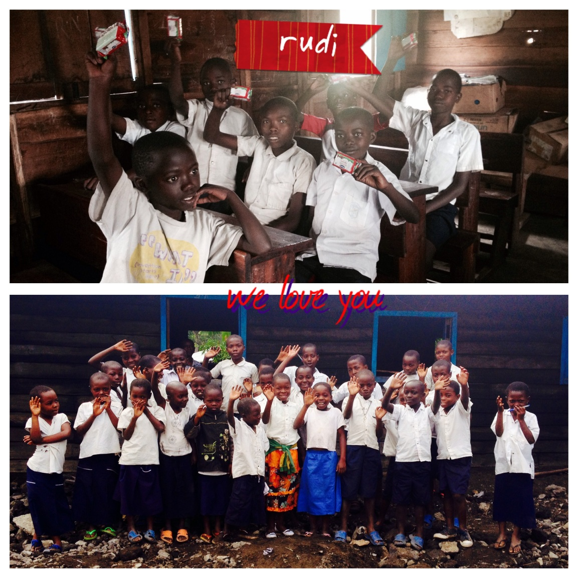 The Children from Rudi Education say thank you!