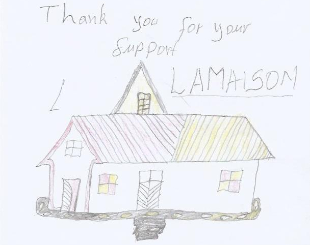 Picture of A House Drawn By One of the Rudi Education Sponsored Students