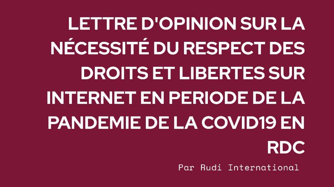 RDC: Comment faire respecter les droits et libertés sur Internet pendant la Covid-19?
